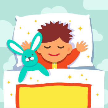 baby boy sleeping with his rabbit toy - Designed by Freepik