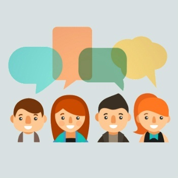 People with speech bubbles - Designed by Freepik