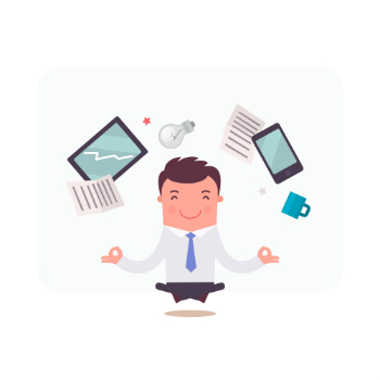 Businessman character meditating - Designed by Freepik